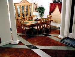 Learn how to make decorative concrete designs like this