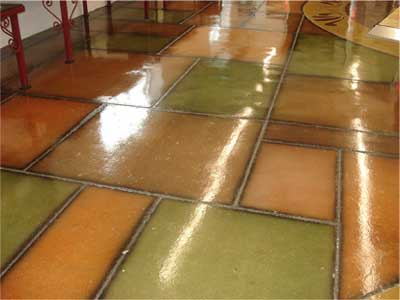 Decorative concrete engraving is durable and can be used in commercial and high-traffic areas.