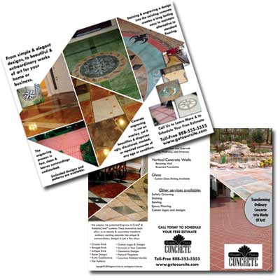 Professional Brochures To Market Decorative Concretegroov-E-News