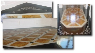 "Elegant ""Charm Square"" Floor Engraving"
