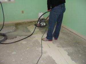 Basement Floor Prep