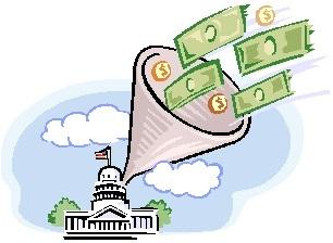 cash into capitol bldg