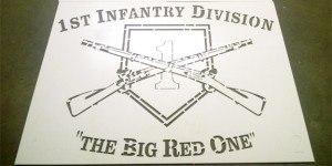1st Infantry Division decorative concrete logo