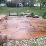 Decorative concrete flagstone