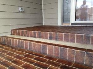 Concrete Revival brick steps