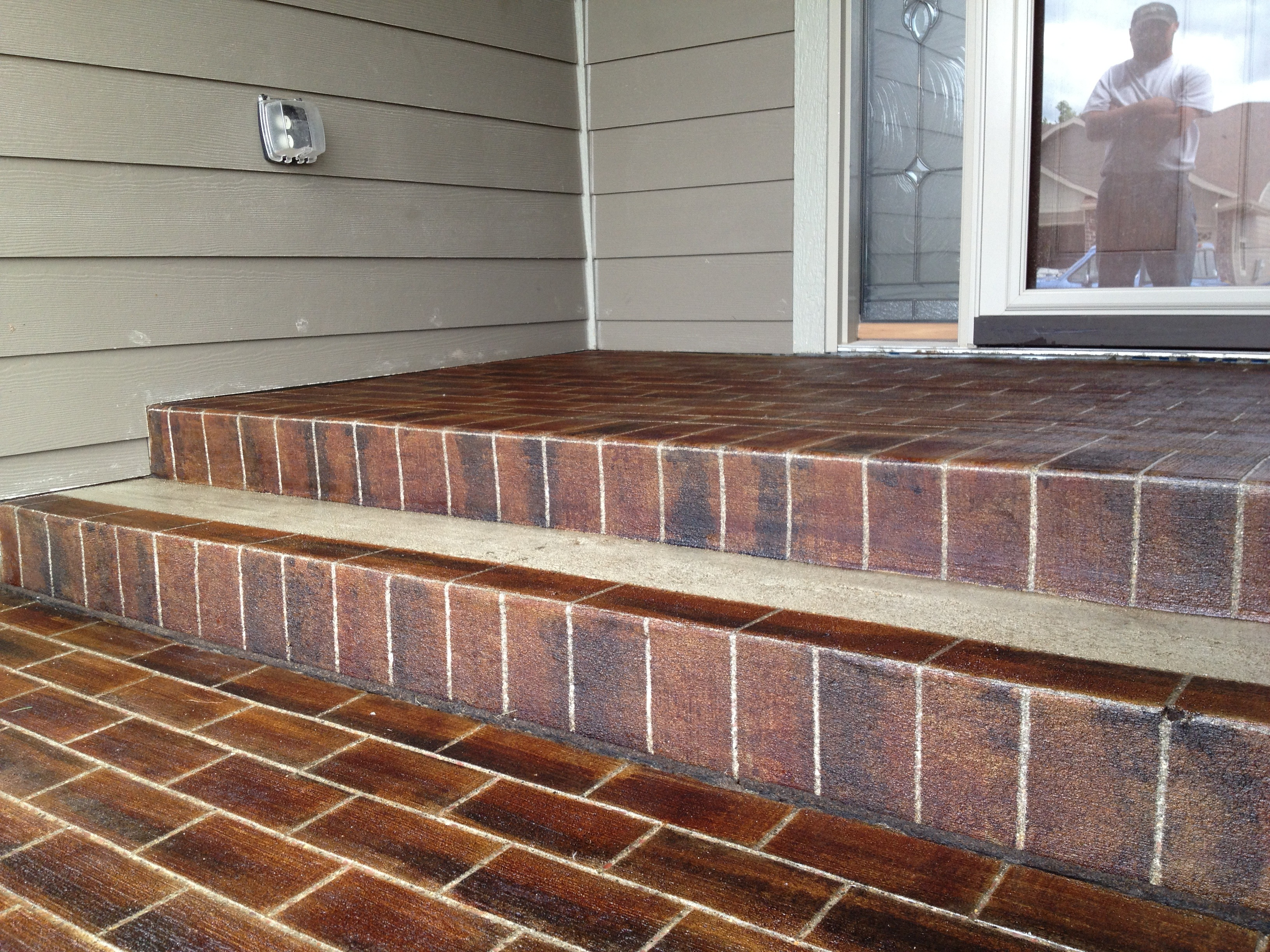 Concrete Revival blog brick steps - Groov-E-NewsGroov-E-News