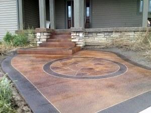 Concrete Revival blog flagstone in circle
