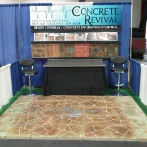 Concrete Revival home show booth
