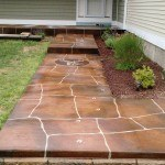 Visions N Crete flagstone decorative concrete finished