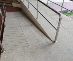 Safety grooving makes ramps safer.