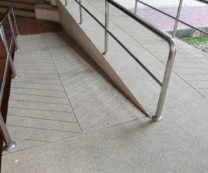 Safety grooving makes ramps safer.