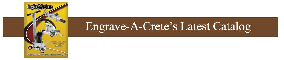 Engrave-A-Crete Catalog
