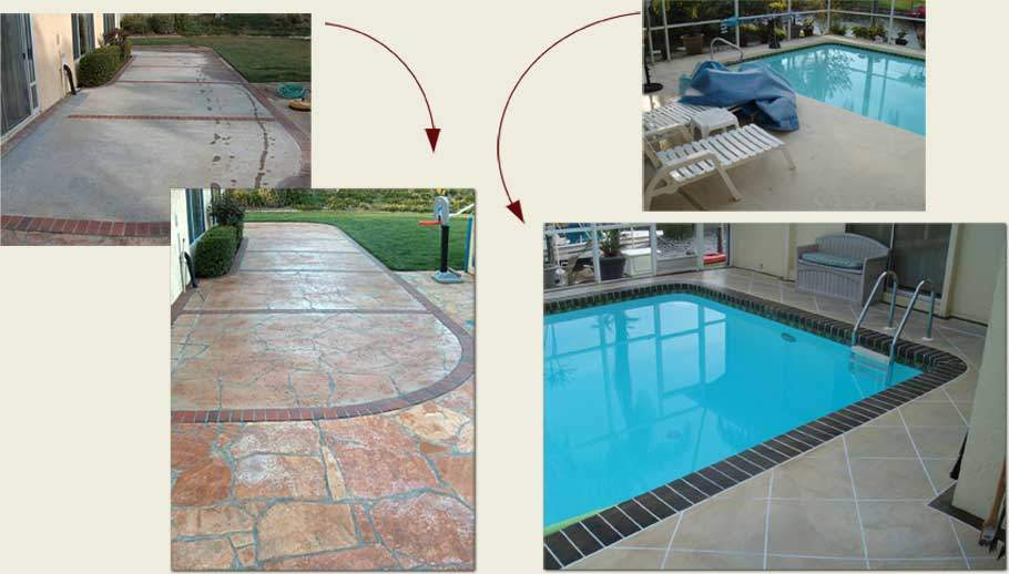 How to turn ugly concrete into beautiful works of art - decorative concrete staining and engraving