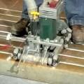 Decorative Concrete Engraving   Cutting Linear Bricks   ...